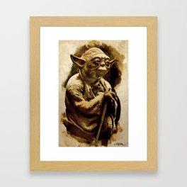 Grand Master Yoda Framed Art Print