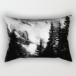 Alpine Classic (Black and White) Rectangular Pillow