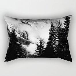 Alpine Classic (Black and White) Rectangular Pillow