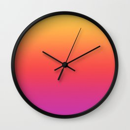 Ombre Colorful Summer Gradient Pattern Wall Clock