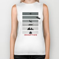 inception Biker Tanks featuring Inception by Duck Cartel