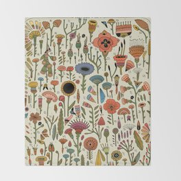 Wildflower Chart Throw Blanket