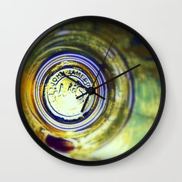 Through the Jameson Glass. Whiskey Ireland Photography Wall Clock