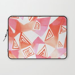 Geo Triangle Peach Laptop Sleeve