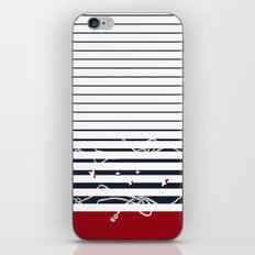sea stripes pattern with red and blue colors iPhone & iPod Skin
