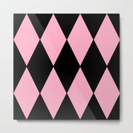 Pink Diamond Design Metal Print