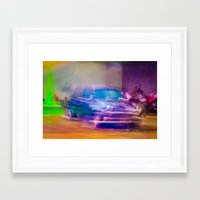 mini cooper Framed Art Prints featuring Mini Cooper by SAAN