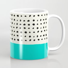 Aqua x Dots Coffee Mug