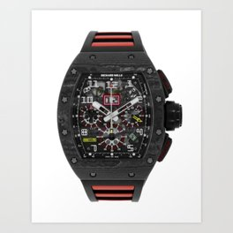 Richard Mille RM011 Felipe Massa Carbon Black Automatic Flyback Chronograph 49MM Watch Art Print