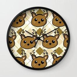Deer and Argyle Wall Clock