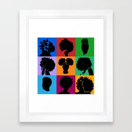 FOR COLORED GIRLS COLLECTION COLLAGE Framed Art Print