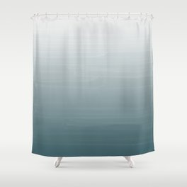 White to dark duck egg greyish blue gradient ombre painted appearance Shower Curtain