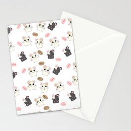 Hamsters and Macarons Stationery Cards