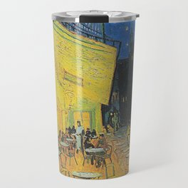 Van Gogh -  The Cafe Terrace on the Place du Forum, Arles, at Night Travel Mug