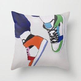 Trendy Sneaker Jordan Throw Pillow
