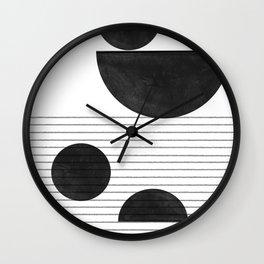 Black and White Balance Wall Clock