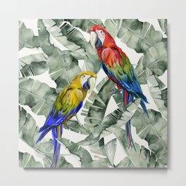 PARROTS IN THE JUNGLE Metal Print