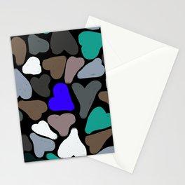 Negative Hearts Stationery Cards