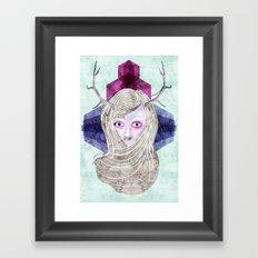 Hair Mask Framed Art Print