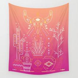 Santa Fe Garden – Pink Sunset Wall Tapestry