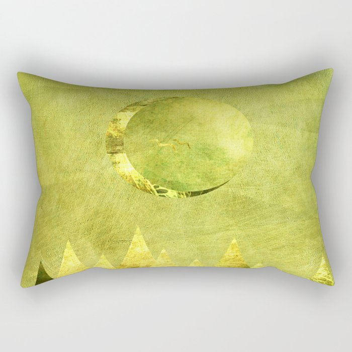 Hushed Moon Rectangular Pillow