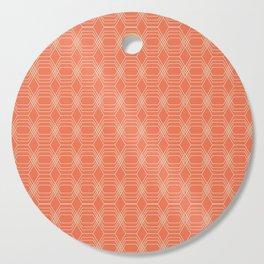 hopscotch-hex tangerine Cutting Board