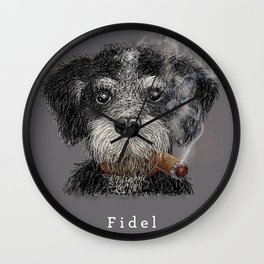 Fidel - The Havanese is the national dog of Cuba Wall Clock