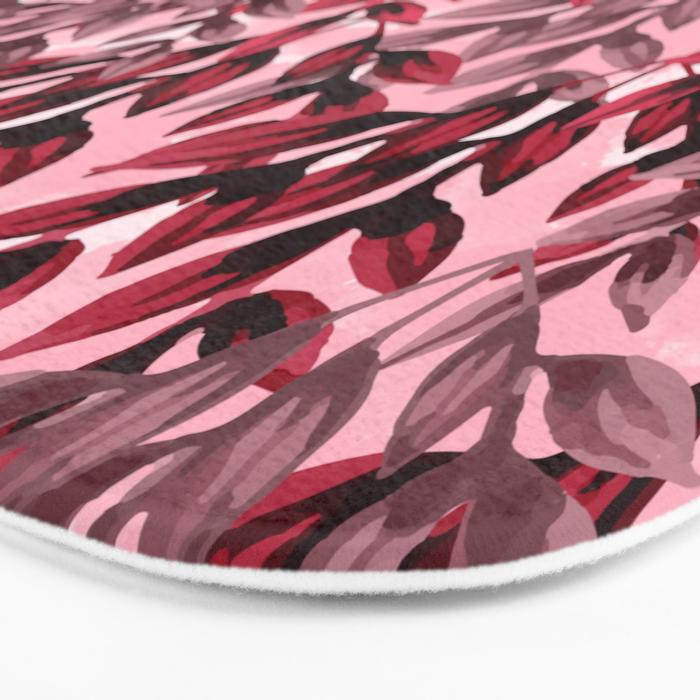 Leaf pattern  Bath Mat