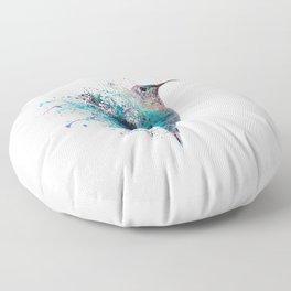 HUMMING BIRD SPLASH Floor Pillow