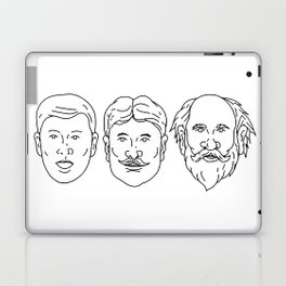 Morphing from Young Adult Middle Age Drawing Laptop & iPad Skin