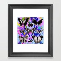 Tie Dye Butterflies Framed Art Print