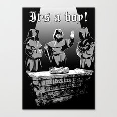 It's a boy! Canvas Print