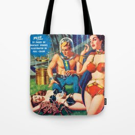 Raiders Of The Solar Frontier -  Vintage Pulp Poster Tote Bag