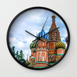Saint Basil's Cathedral (Red Square in Moscow) Wall Clock