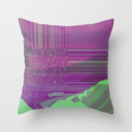 future worlds digital landscape Throw Pillow