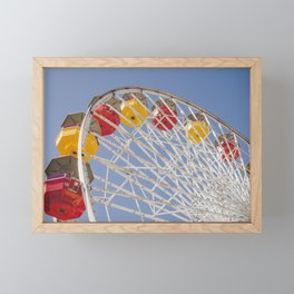California Wheelin - Santa Monica Pier Framed Mini Art Print