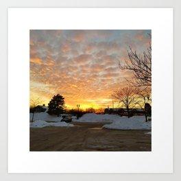 Winter Sunset, Chicago, 2018 Art Print