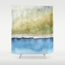 Green by the Sea Shower Curtain