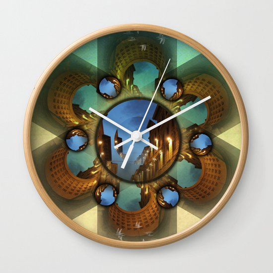 Emerald orbit Wall Clock