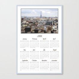 Paris 2013 Calendar Canvas Print