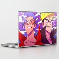 gurren lagann Laptop & iPad Skins featuring TTGL: Kamina & Kittan by Kelly Kao