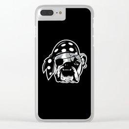 Pirate Dog Clear iPhone Case