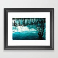 Reflected Bridge Framed Art Print