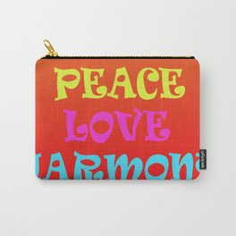 Peace Love Harmony Carry-All Pouch
