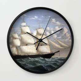 William Bradford - Northern Light by William Bradford Wall Clock