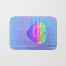 Fractal Art- Heart Art- Rainbow Heart- Blue Heart- Oh My Henry Bath Mat