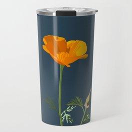 Flower No. 5: California poppy Travel Mug