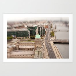 Dublin city center aerial view Art Print