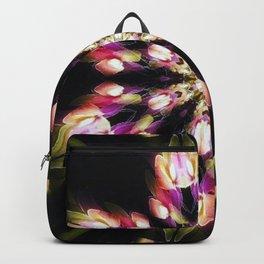 Purple & Green Fire Snowflake Backpack