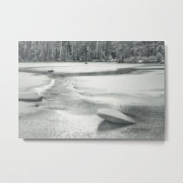 Cold as Ice frozen Castle Lake in California Metal Print